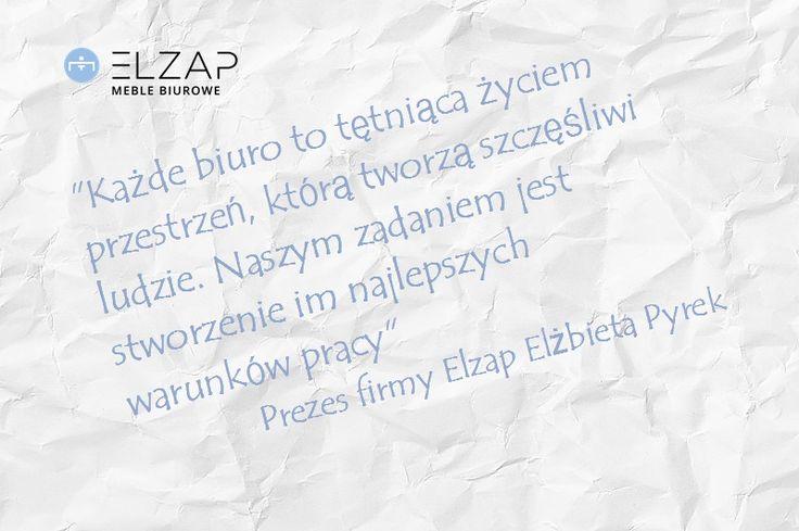 Elzap wie jak poprawić samopoczucie i komfort Twoich pracowników! Jesteśmy specjalistami w swojej dziedzinie!  Jeśli macie ochotę raz jeszcze przeczytać wywiad z Elżbietą Pyrek znajdziecie go 👇👇👇 http://elzap.eu/pl/cms/64-media-o-nas  #elzap #meble #biuro #praca #office #furniture #ciekawostka