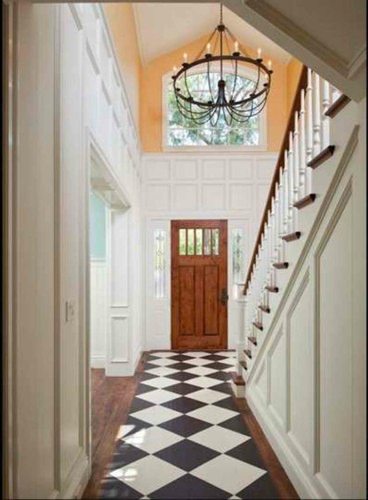 Best 1930S Style Front Door Foyer Design Staircase Design 400 x 300