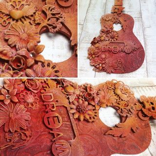 Anna Emelia Howlett, artisan, autumn, autumn colours, crafter, dream, guitar, mixed media art, Mixed media artist, motivational art, Powertex, Powertex Art, Powertex Design Team 2017, Powertex Uk, Rosehart Studio