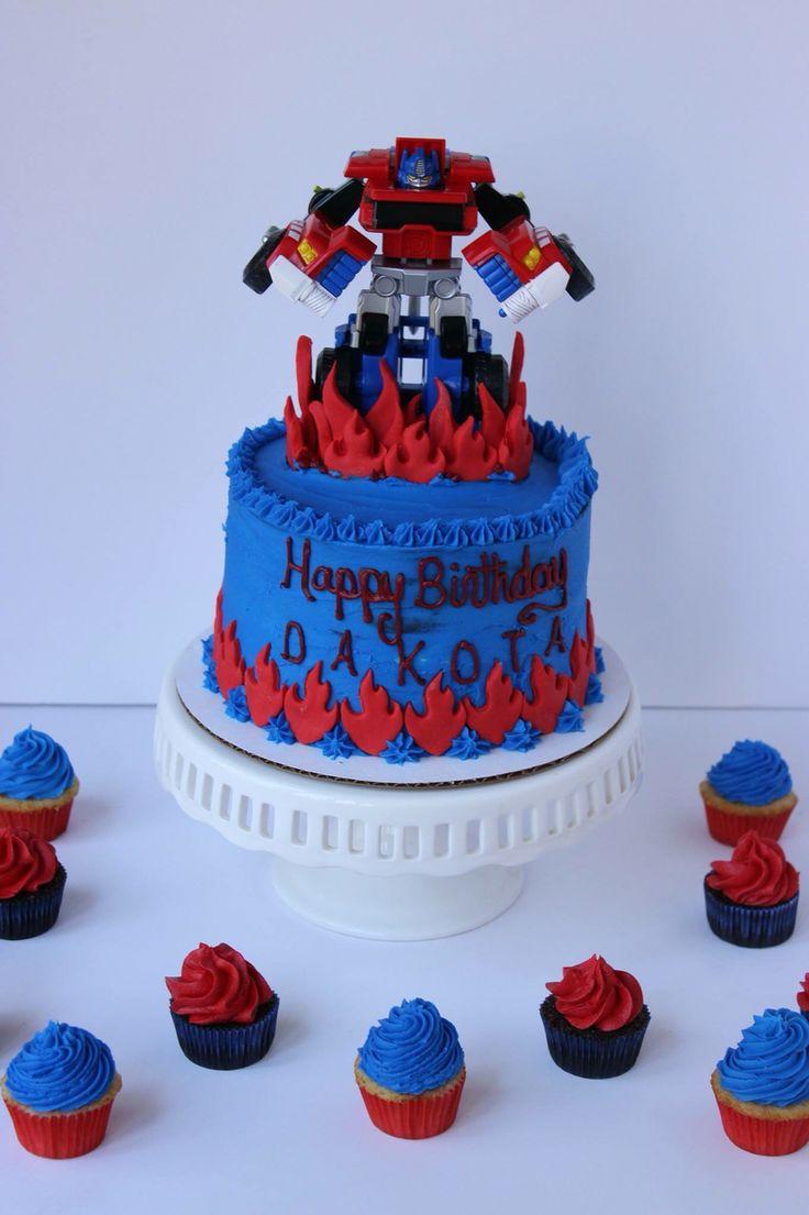 Transformers Cake                                                       … (for Brenden's 7th birthday. LT)