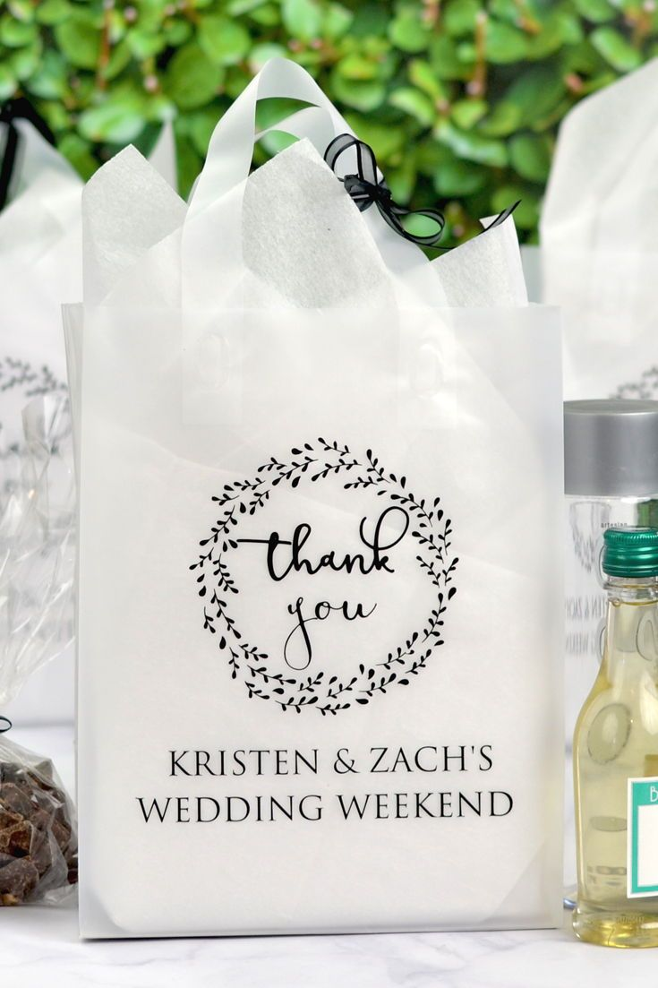 82edec54c93 Wedding Guest Thank You Bags - Want to thank your wedding guests in a  special way  Present them with personalized thank you bags filled with your  favorite ...