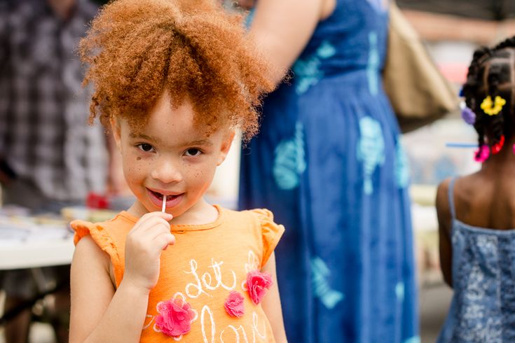 Redhead Mixed Race Freckled Face Child I Just Love Kids