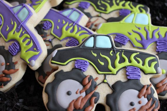 Monster Truck Cookies Monster Truck Party by 4theloveofcookies