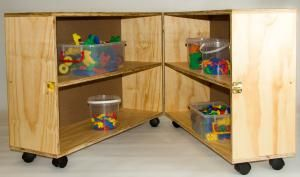 Toy Shelf (600x900x560) on Castors