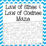 Law of Sines and Law of Cosines Maze