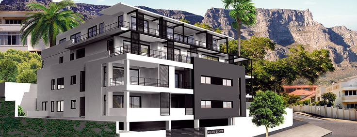 This Black and white facade will definitely make a statement in Vredehoek! #capetownproperty