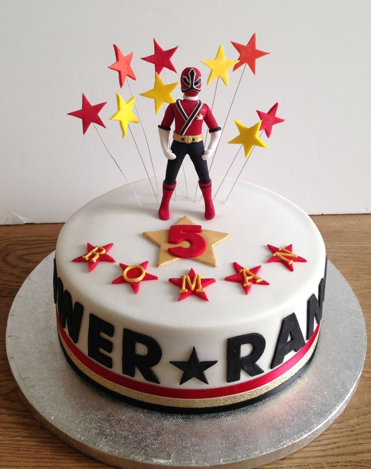 Power Rangers Bday Cake