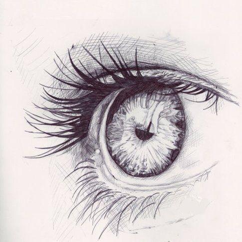 pencil eye, tumblr