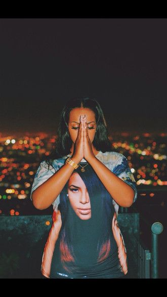 t-shirt aaliyah shirt night city 90's shirt 90s style