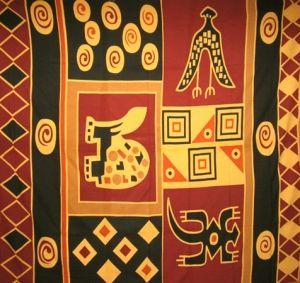 Tenture Ethnique Afro Batik