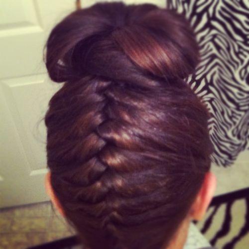 like it!: Hair Ideas, French Braids, Hair3, Tops Knots, Beautiful Braids, Style Hair, Knots Buns, Hair Style, 2 Braids