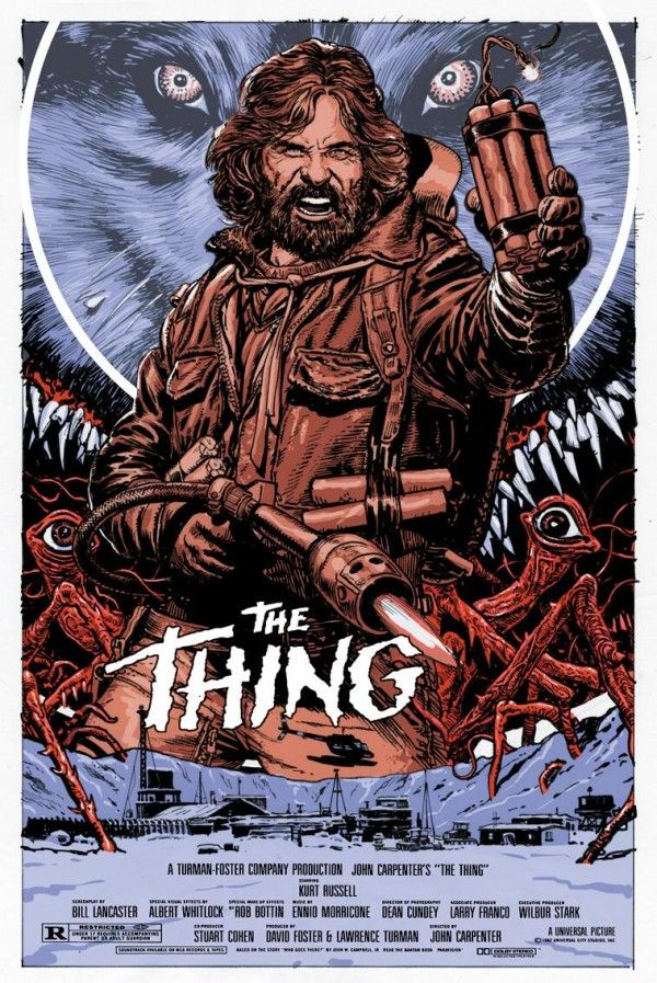 Chris Weston Kurt Russell The Thing commissioned print poster not MONDO