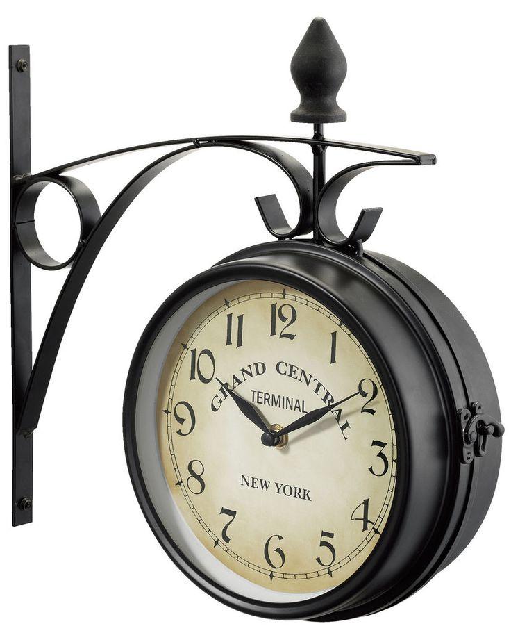 Zegar dwustronny RALA śr.21cm czarny w JYSK.