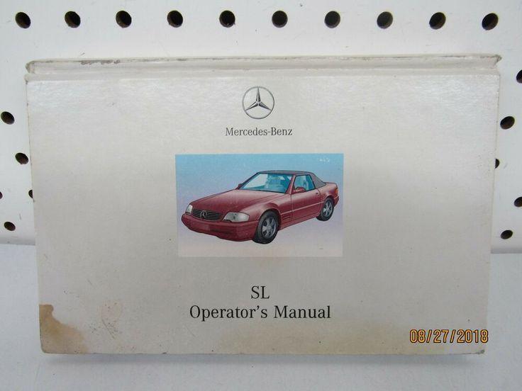 Ebay Sponsored 2001 Mercedes Benz Sl 500 Sl 600 Owners Manual Set Free Shipping Mercedes Sl500 Mercedes Owners Manuals
