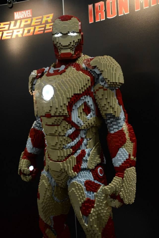 Iron Man LEGO... How many Legos do you think it took to make this statue?