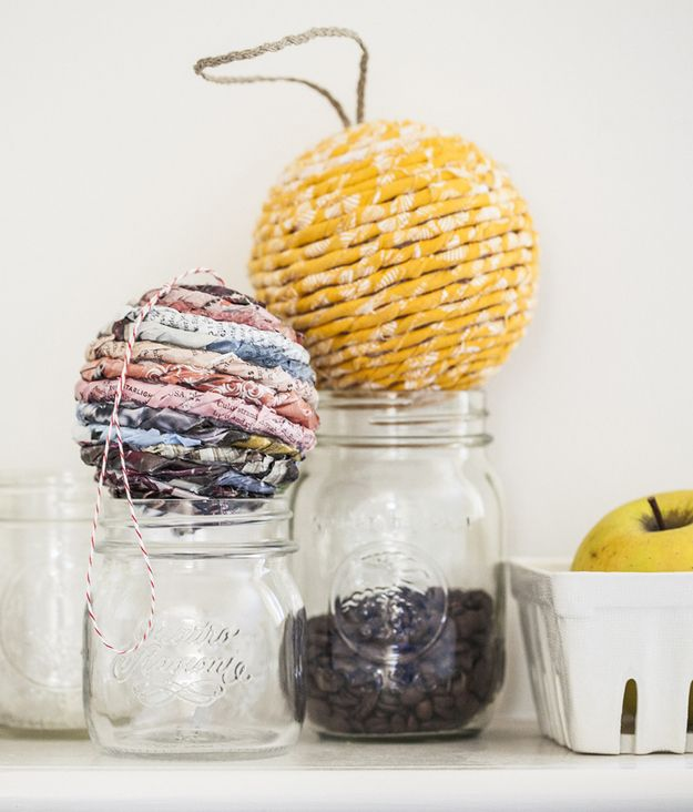 Use pretty rags for these bulbs.   33 Adorable And Creative DIY Ornaments