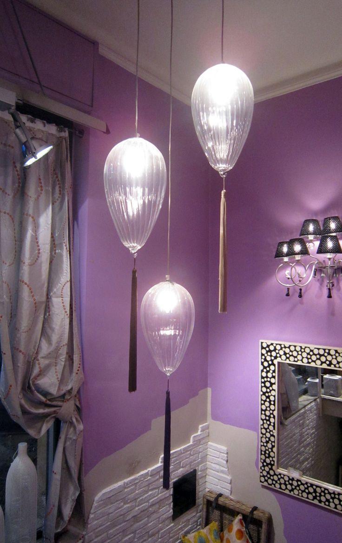 #interiordesigner #valterpisati #design #arredamento #lampade #sospensioni #melogranoblu #vetrosoffiato