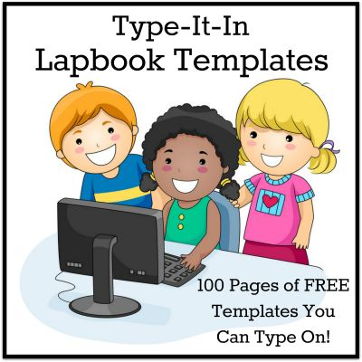 FREE Type-It-In Lapbook Templates from Homeschool Share