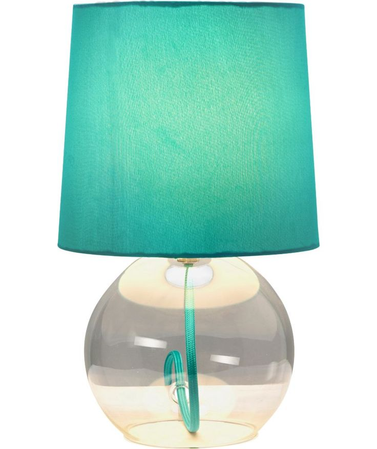 Buy colourmatch flexi glass lamp aqua at for Table lamps argos