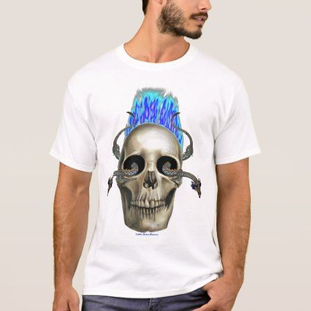 Eastern Dragon Skull Flames T-Shirt - click to get yours right now!