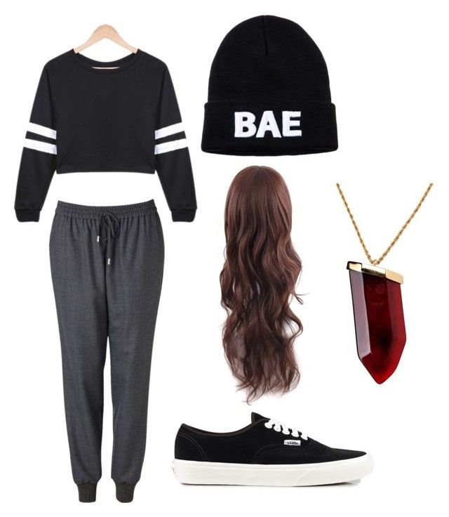 """""""BAE #2"""" by kamiprince2012 ❤ liked on Polyvore featuring Witchery, Domo Beads, Vans and Kenneth Jay Lane"""