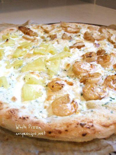 レモンとリコッタのピザ