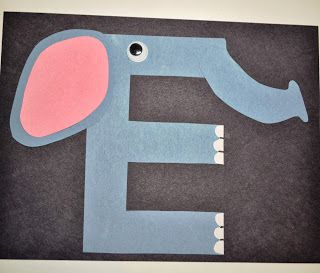 A Happily Ever Crafter: Letter E Craft