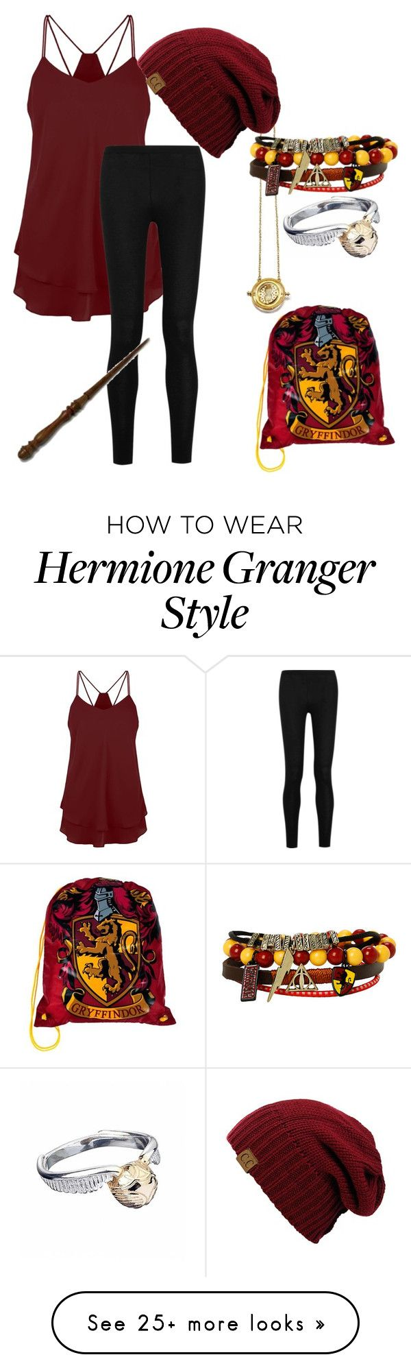 """""""Gryffindor outfit"""" by thewolf-217 on Polyvore featuring Donna Karan"""