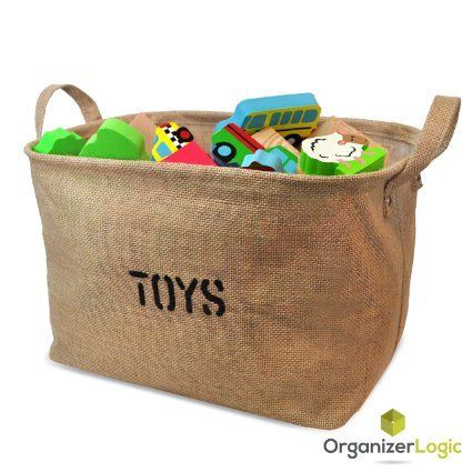 Jute Storage Bin, Eco-Friendly for Toy Storage - Storage Basket for organizing Baby Toys, Kids Toys, Baby Clothing, Children Books, Gift Baskets., 2016 Amazon Hot New Releases Furniture  #Baby