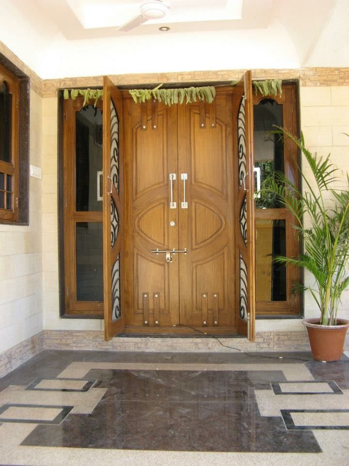 Pin By Venkatesham On Doors Double Door Design House