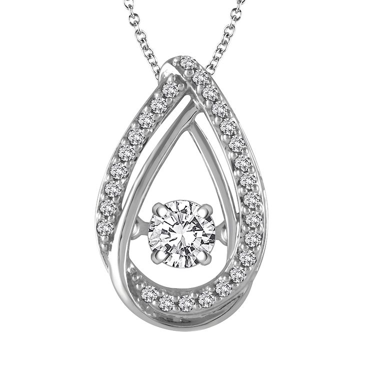 131 best diamonds in motion dazzling diamonds images on pinterest fancy diamond teardrop pendant with one moving diamond in white gold mozeypictures Image collections