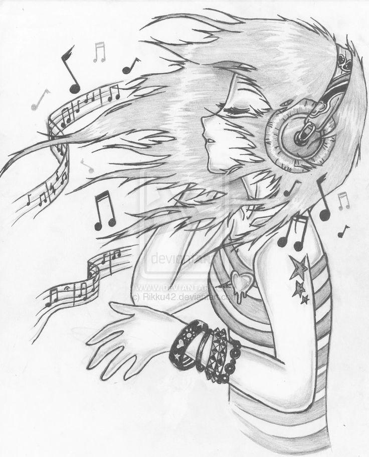 Resultado de imagen para tumblr drawings music