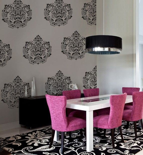 72 best i like this home decor images on pinterest home for Pink dining room ideas