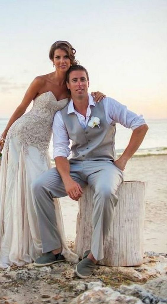 Best 25 beach groom ideas on pinterest beach wedding for Casual wedding dresses for man