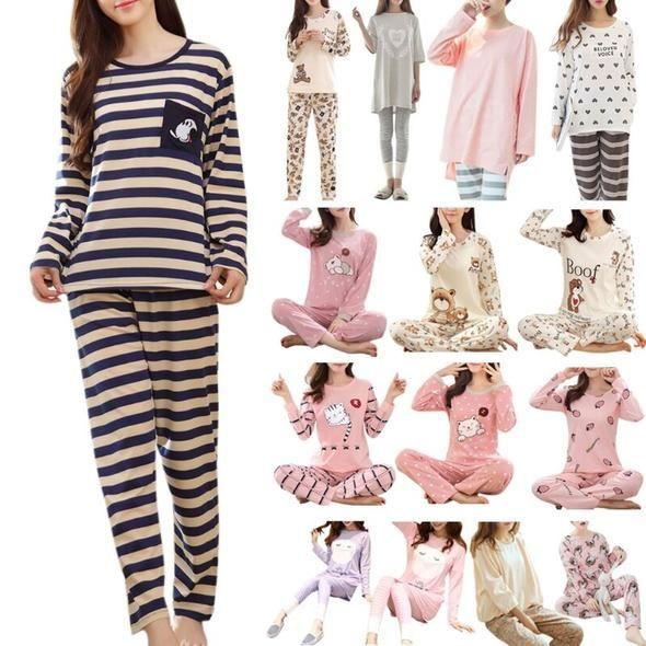 2pcs Kids Baby Long Sleeve Top+pants Cotton Baby Pajamas Set Sleepwear Nightwear