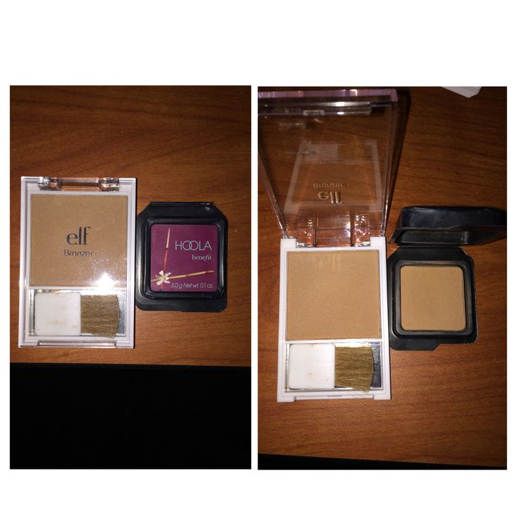Makeup dupe! Hooks Bronzer from Benefit cosmetics and Glow Bronzer from e.l.f. $36 vs $2