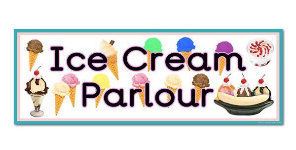 Ice Cream Parlour Role Play Display Heading