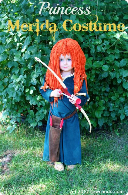 Precious Princess Merida costume from Sew Can Do.