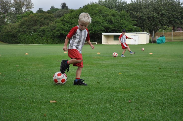 Sebastian displays ball skills - St. Andrews Pre Primary, Grahamstown, South Africa
