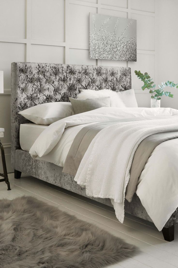 Next Paris 2 Drawers Bedstead Glitz Pewter Products In