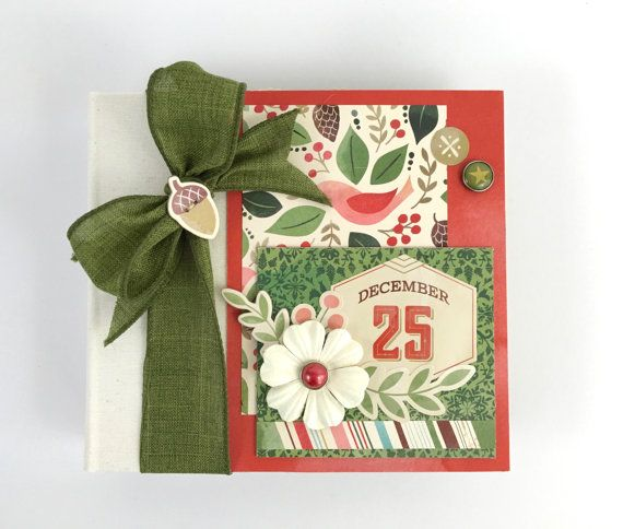 Christmas Scrapbook Album Kit or Premade Mini Album available at ArtsyAlbums