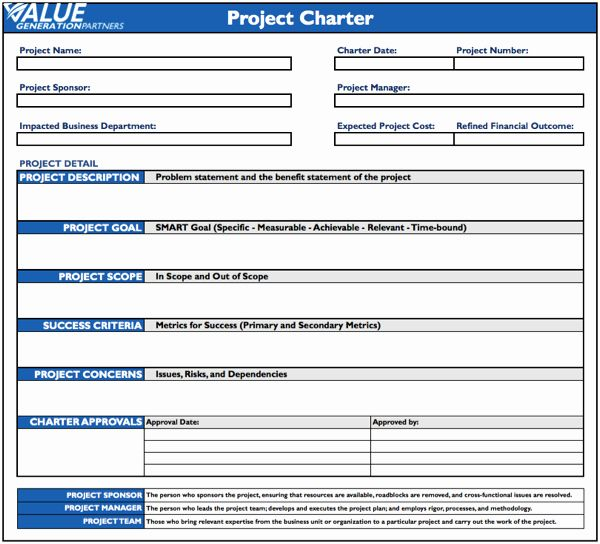 30 Project Charter Template Word In 2020 Business Case Template