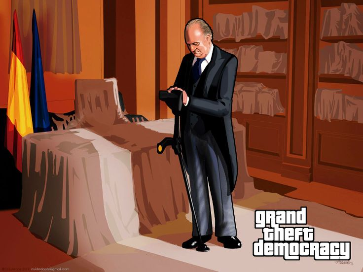 Juan Carlos, Rey de España, anda malamente, por suerte se jubiló pronto... por su bien y el de todos