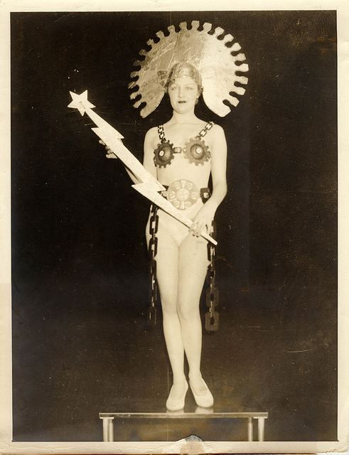 Nightclub singer Jacqueline Meserve as Spirit of Technocracy, 1933