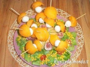 Spiedini di Melone, Prosciutto e Mozzarella