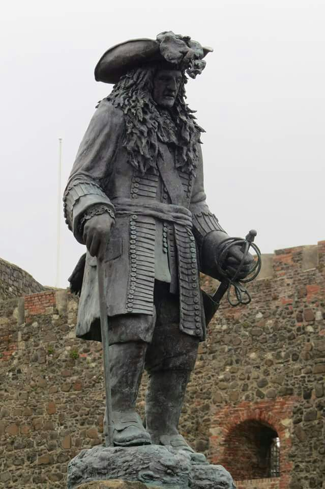 Statue of William Of Orange at Carrickfergus Castle Northern Ireland
