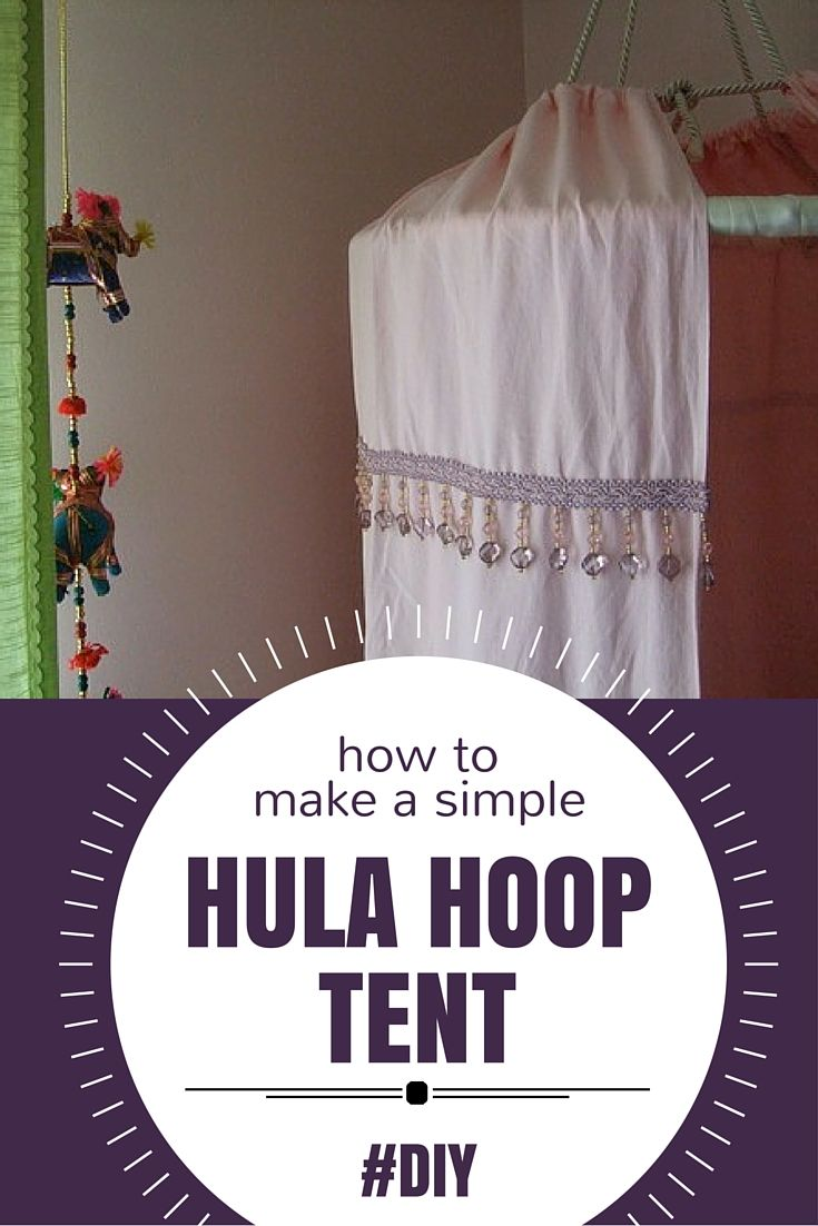 Remember the fabulous twirly skirt I made that my daughter loved for thirty seconds and then discarded in favour of a princess gown? It turns out I haven't learned my lesson. This weekend I made my daughter a small hula hoop tent. It's insanely simple to make: Hem the end of a bed sheet, make …