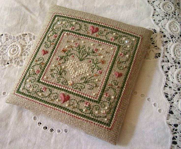 With pattern in English. #embroidery. #cross_stitch