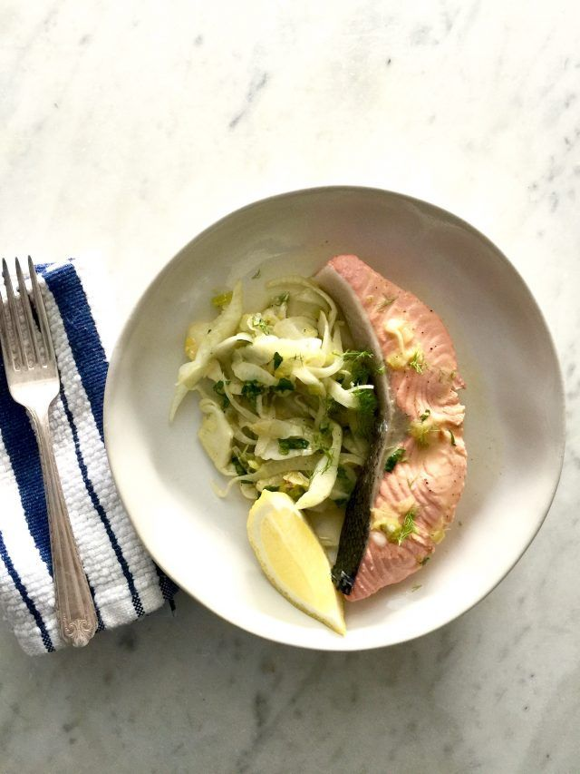 Cool Mom Eats weekly meal plan: How to poach salmon at In Jennie's Kitchen