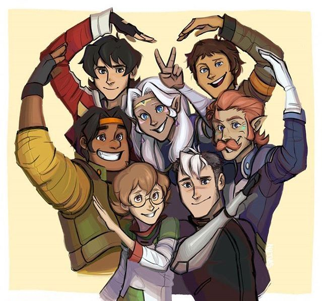 The Paladins and the rest of the gang!<<< Allura's a Paladin